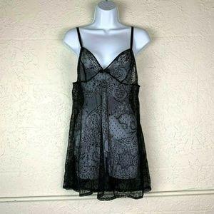 Victoria's Secret Nightgown Teddy L Lingerie Lace